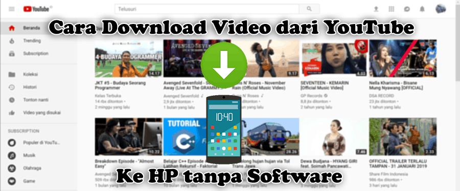Cara Download Video dari YouTube ke HP