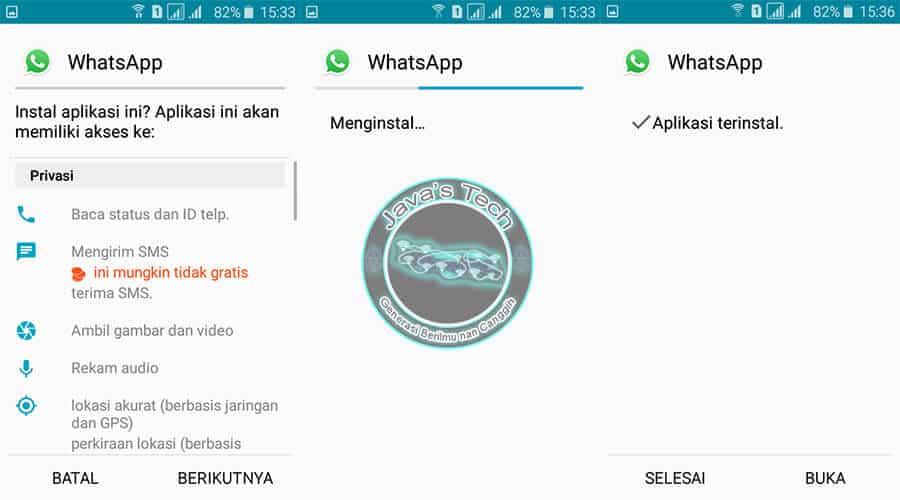 Proses Instalasi WhatsApp