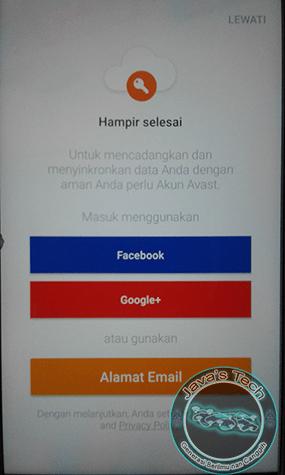 Sinkronkan dengan Email