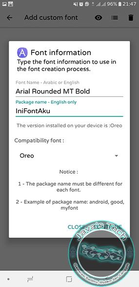 Atur Pembuatan Font