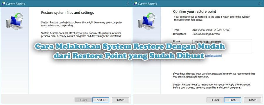 Cara Melakukan System Restore Dengan Mudah