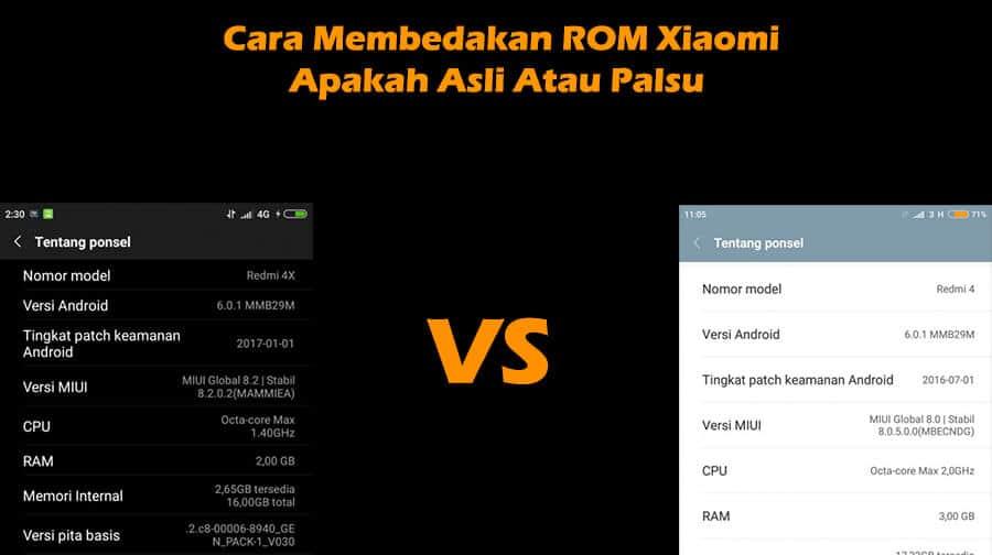 Cara Membedakan ROM HP Xiaomi Apakah Asli Atau Palsu