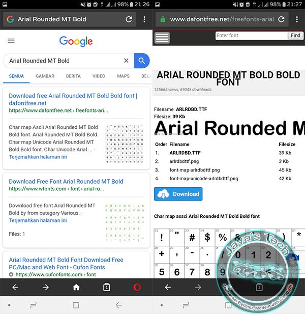 Cari Font di Pencarian Google