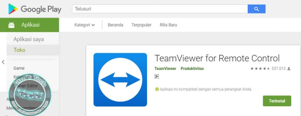 Download TeamViewer di Play Store