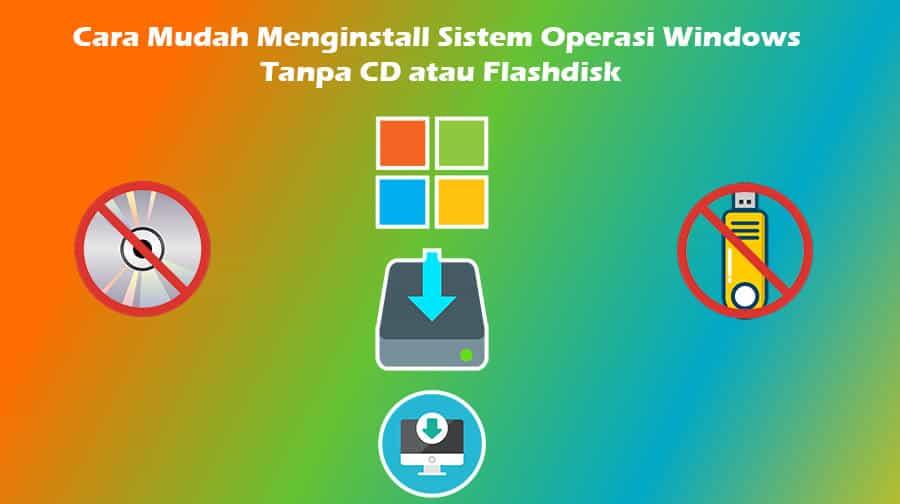 Menginstall Windows Tanpa CD atau Flashdisk