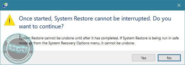 Peringatan System Restore