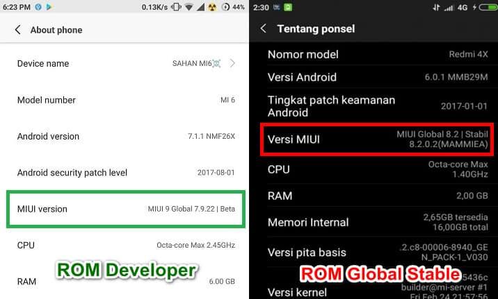 ROM Developer dan ROM Global Stable