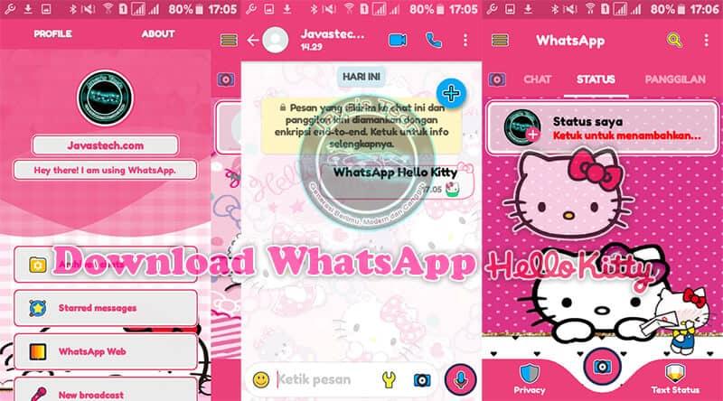 Download Whatsapp Hello Kitty V21934 Terbaru 2019 Javas