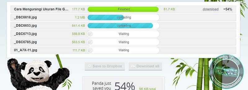 File Diupload dan Mulai Dikompres