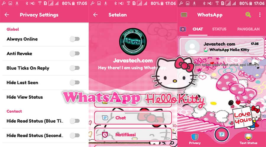 Download Whatsapp Hello Kitty V21934 Terbaru 2019 Javas