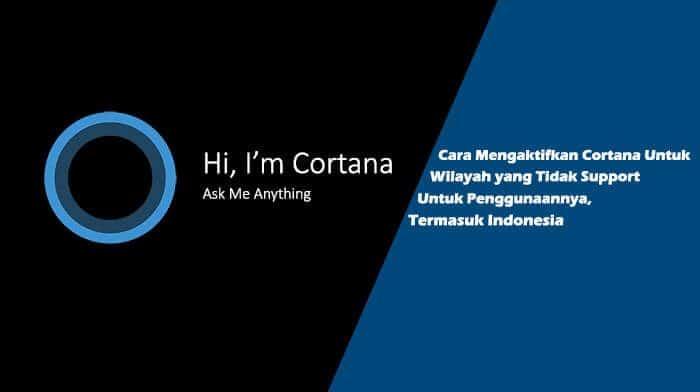 Cara Mengaktifkan Cortana Windows 10