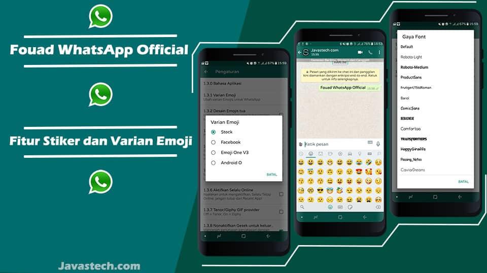 Fitur Stiker dan Varian Emoji