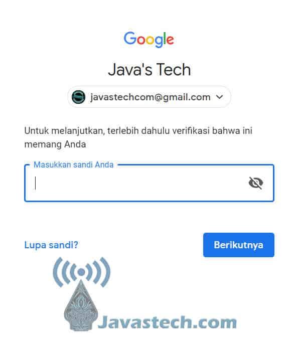 Konfirmasi Akun Google