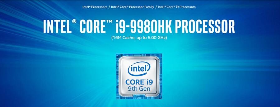 Prosesor Terbaru Intel Core i9-9980HK