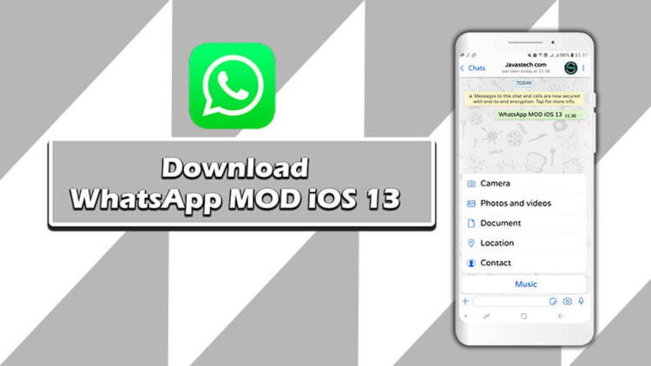 Download Whatsapp Mod Ios 13 Update V8 25 Terbaru 2020