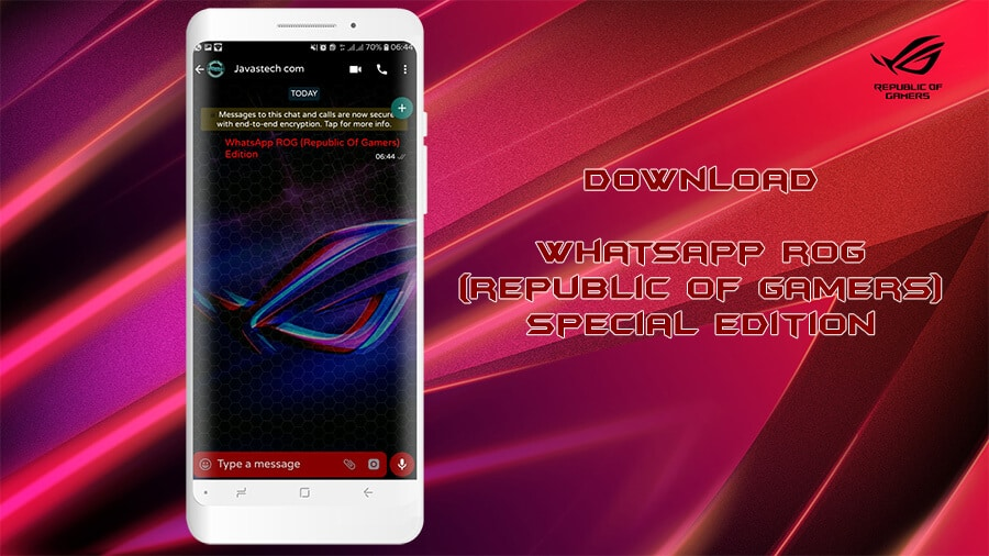 Download WhatsApp ROG Special Edition