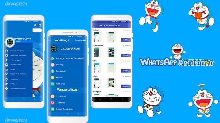 Fitur WhatsApp Doraemon Deluxe Version