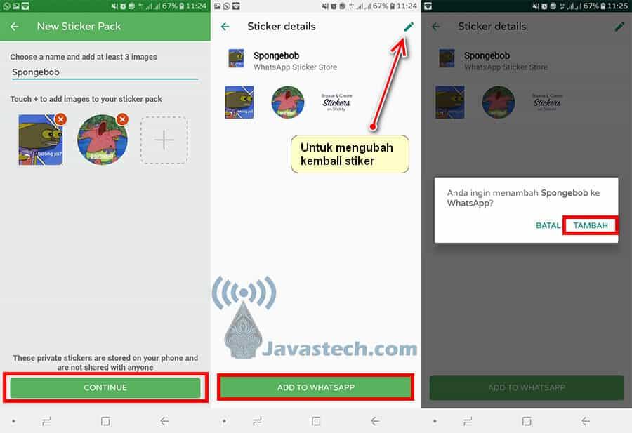Penyelesaian Membuat Stiker WhatsApp
