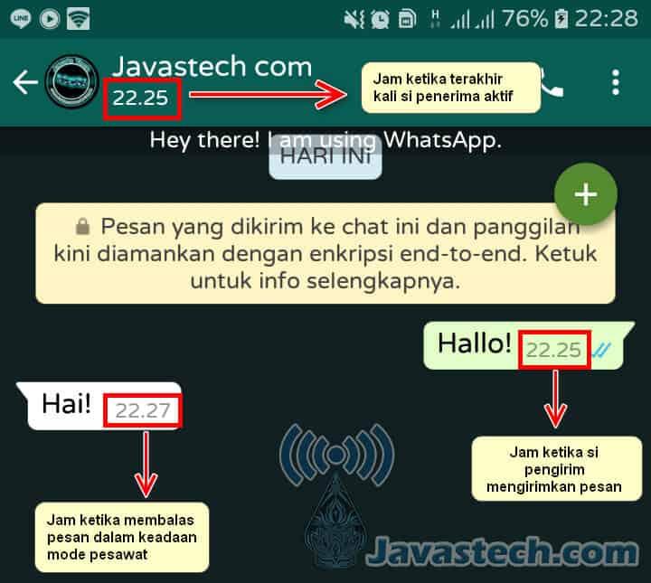 Perbedaan Jam Pada Pengiriman Pesan WhatsApp
