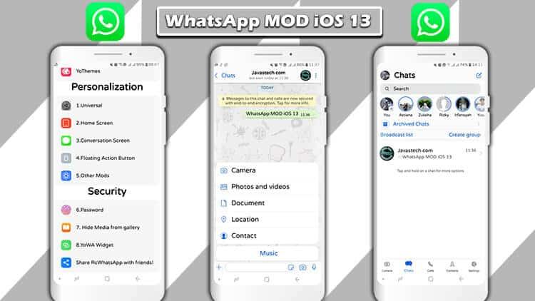 Ulasan WhatsApp MOD iOS 13