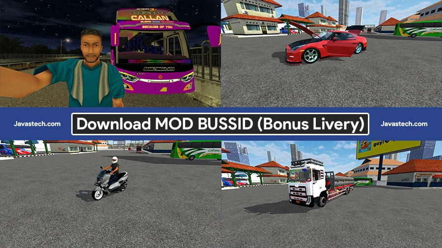 Download Mod Bussid Bus Truck Mobil Motor Bonus Livery 2021