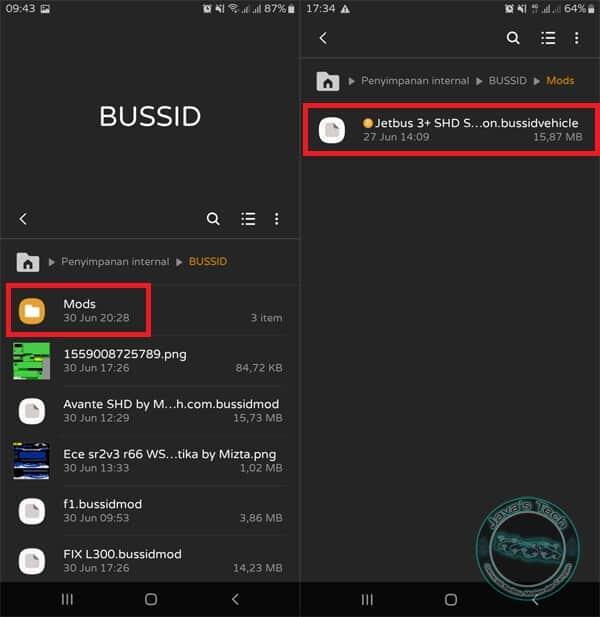 Folder MOD BUSSID