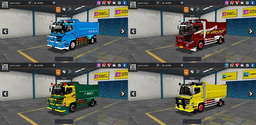 Hino Dump 500NG Face Scania by SMC Team