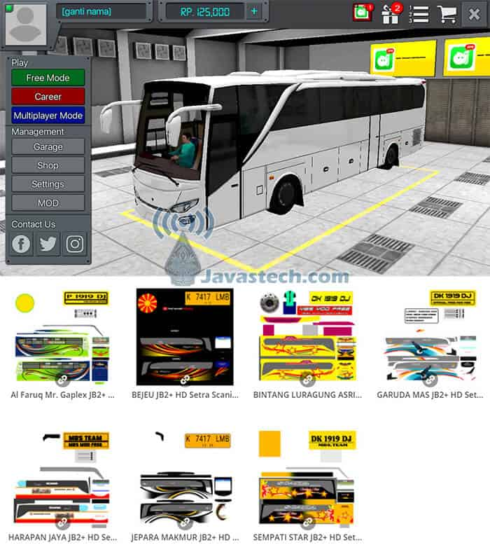 Livery JB2+ HD Setra Scania V1 by MBS Team