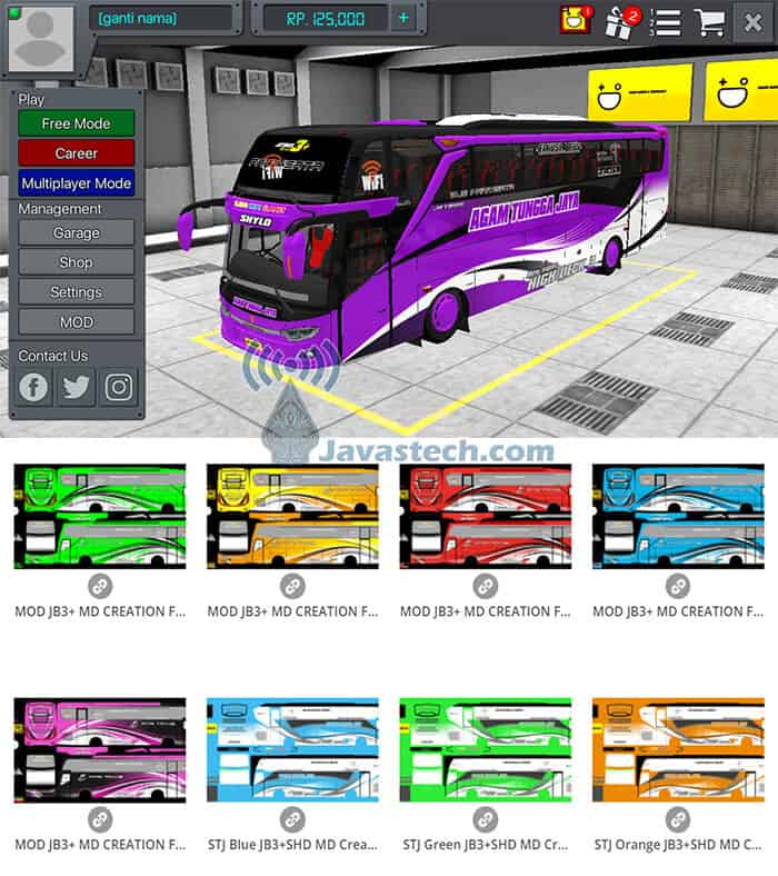 Livery JB3+ SHD by MD Creation
