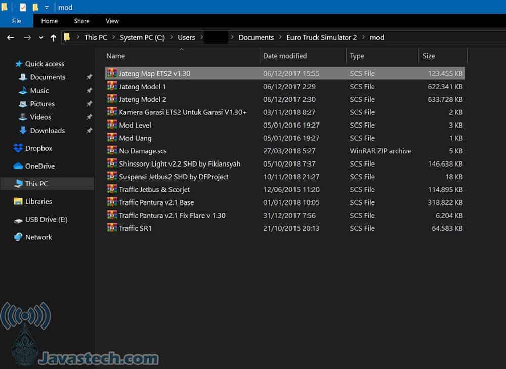MOD Yang Ada Di Folder mod