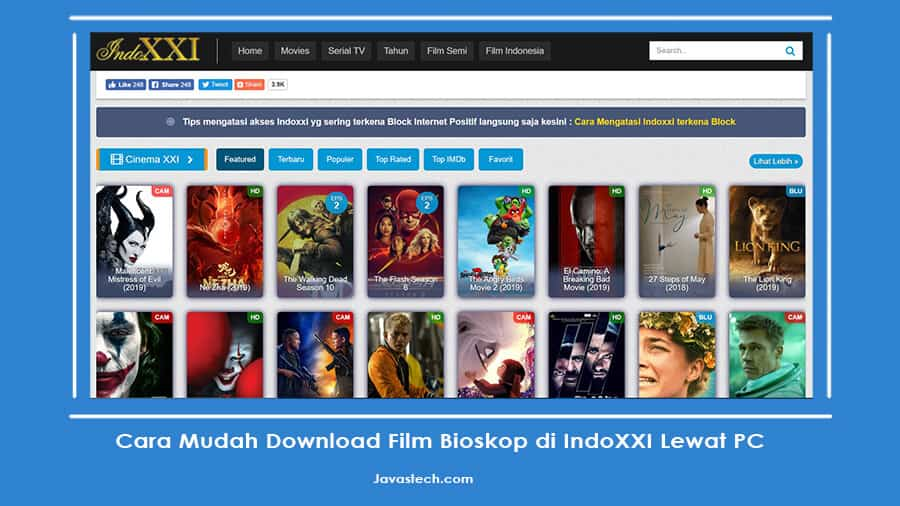 Cara Mudah Download Film Bioskop di IndoXXI Lewat PC
