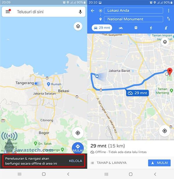 Peta di Gunakan Offline