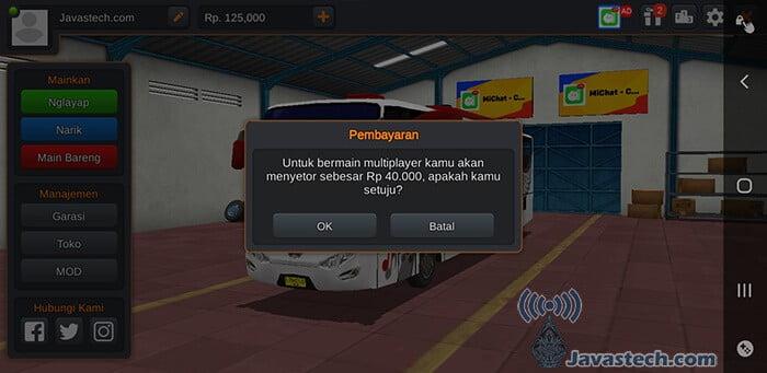 Bayar Sebesar Rp 40000