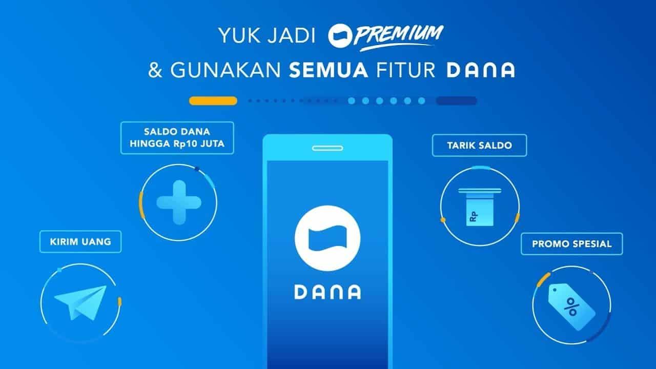 Cara Upgrade DANA Menjadi Premium