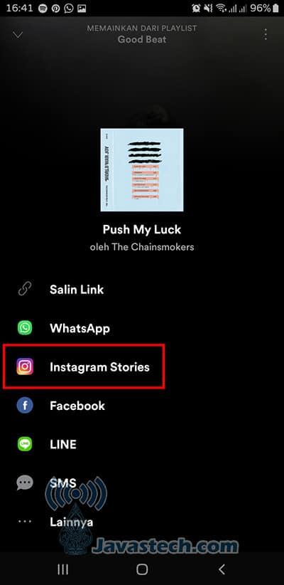 Pilih Instagram Stories