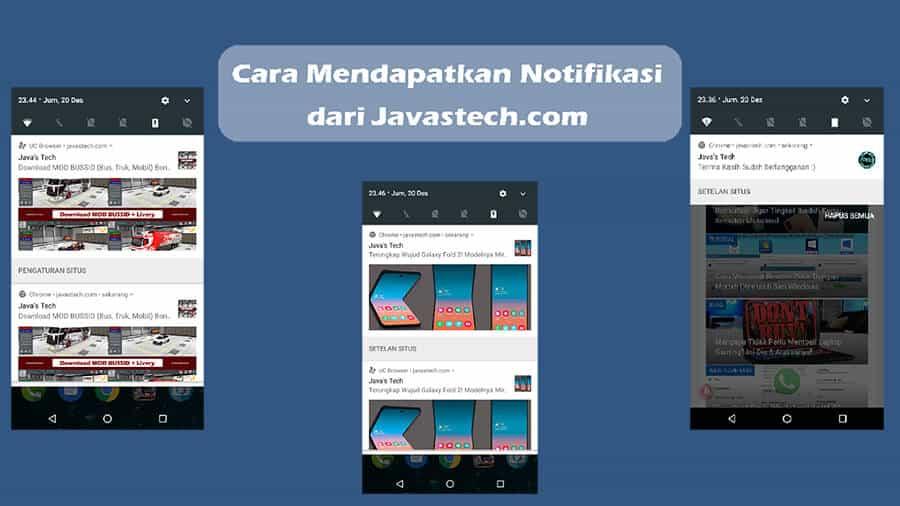 Cara Mendapatkan Notifikasi Javastech