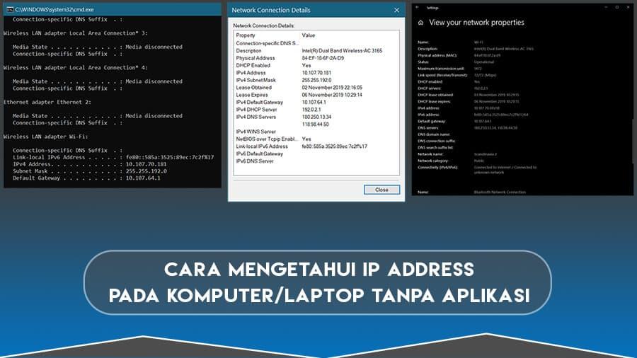 Cara Mengetahui IP Address Pada Komputer atau Laptop