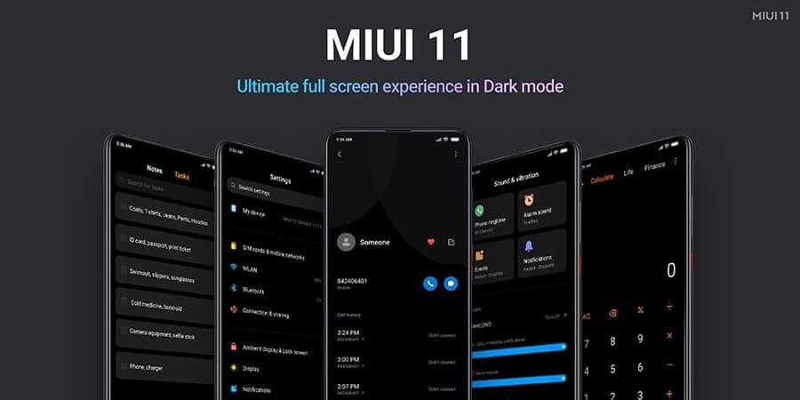 Dark Mode di MIUI 11