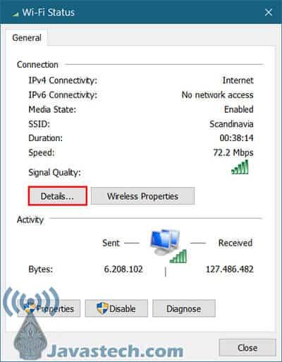 Detail Pada Adapter Jaringan Internet