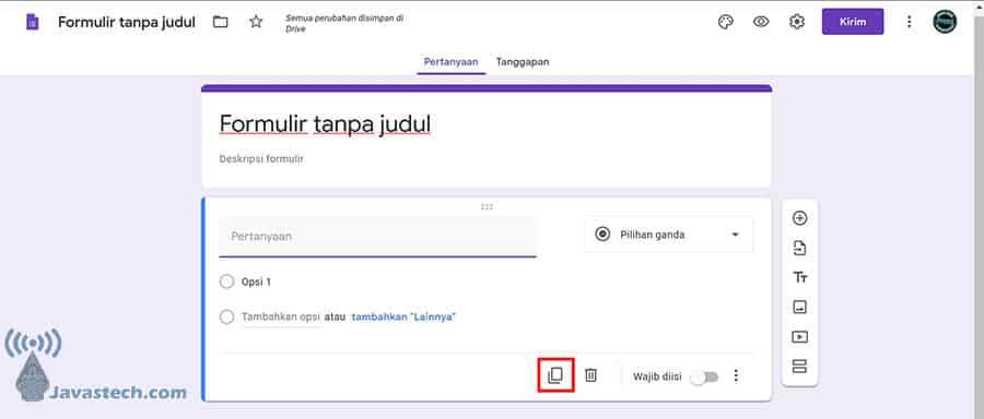 Duplikat Pertanyaan Google Form