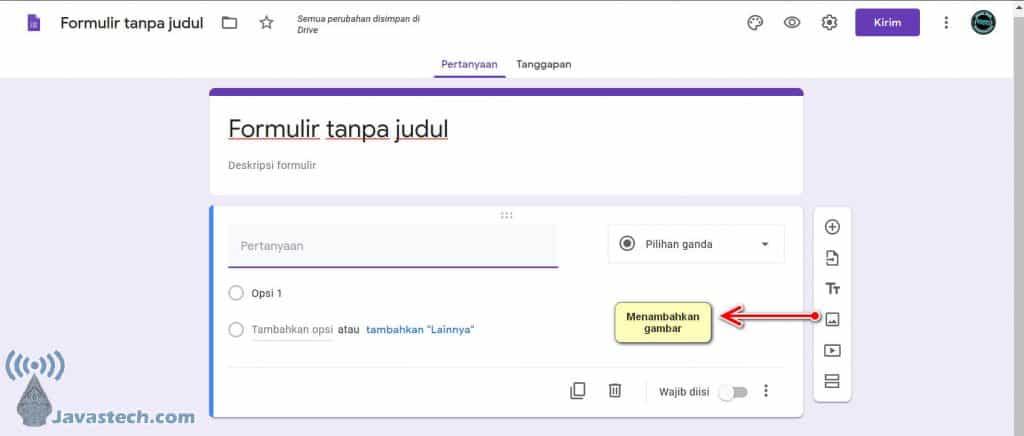 Menambahkan Gambar ke Google Form