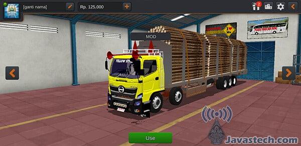 Truck Hino 500NG Overload Kayu