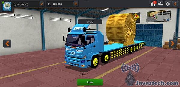 Truck Hino Muatan Gulungan Kabel