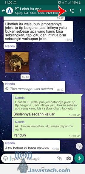 Ikon Telepon-Plus pada WhatsApp