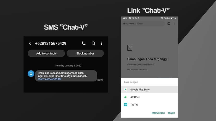 Cara Mengetahui dan Menghindari SMS Chat-V
