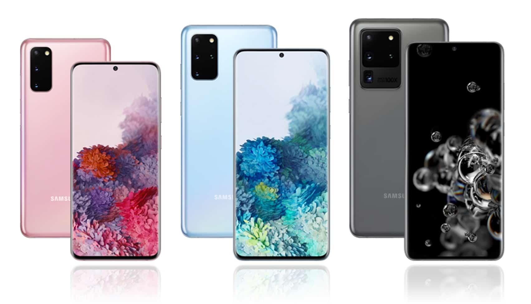 Samsung Galaxy S20, S20+, S20 Ultra