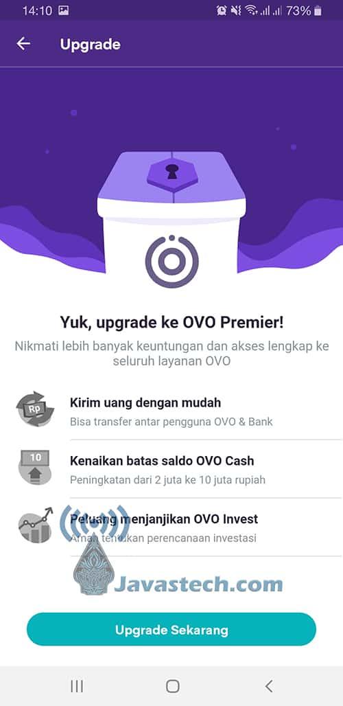 Upgrade Sekarang Akun OVO