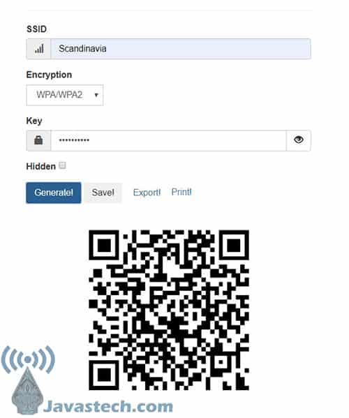 Membuat QR Code WiFi