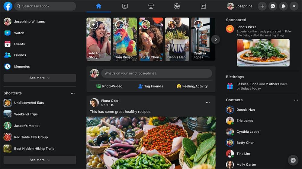 Cara Menyalakan Dark Mode Facebook