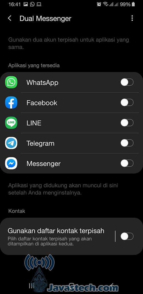 Pilih Aplikasi yang Digandakan